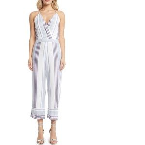 Willow & clay blue white stripe jumpsuit small